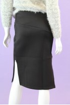 Scuba Pencil Skirt with Side Slits