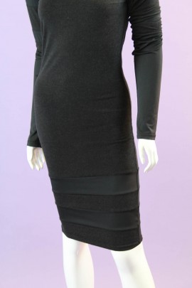 Long Sleeved Black Dress