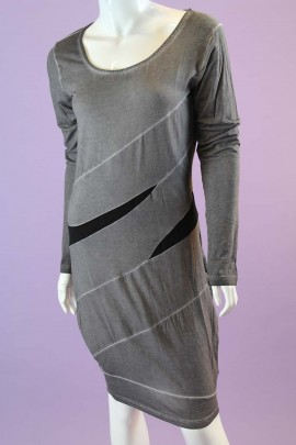 Long Sleeved Grey Dress