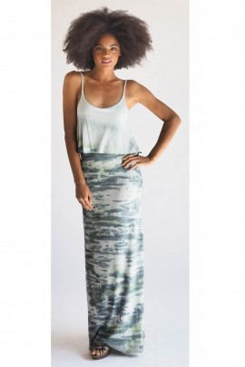 Julie Camo Maxi Dress