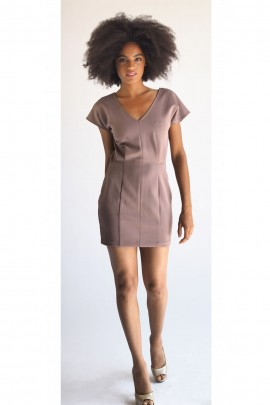 Emma Scuba Dress In Mauve