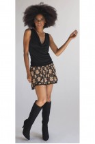 Autumn Black & Tan Skort