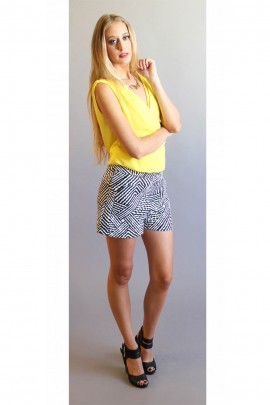Sahara Tribal Black & White Shorts