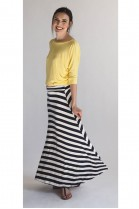 Candy Navy Stripe Maxi Skirt