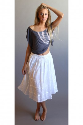The Sydney Bohemian Skirt In 3/4 Length